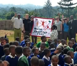 World Challenge students from Banbury Sixth Form meet school pupils in Tanzania.